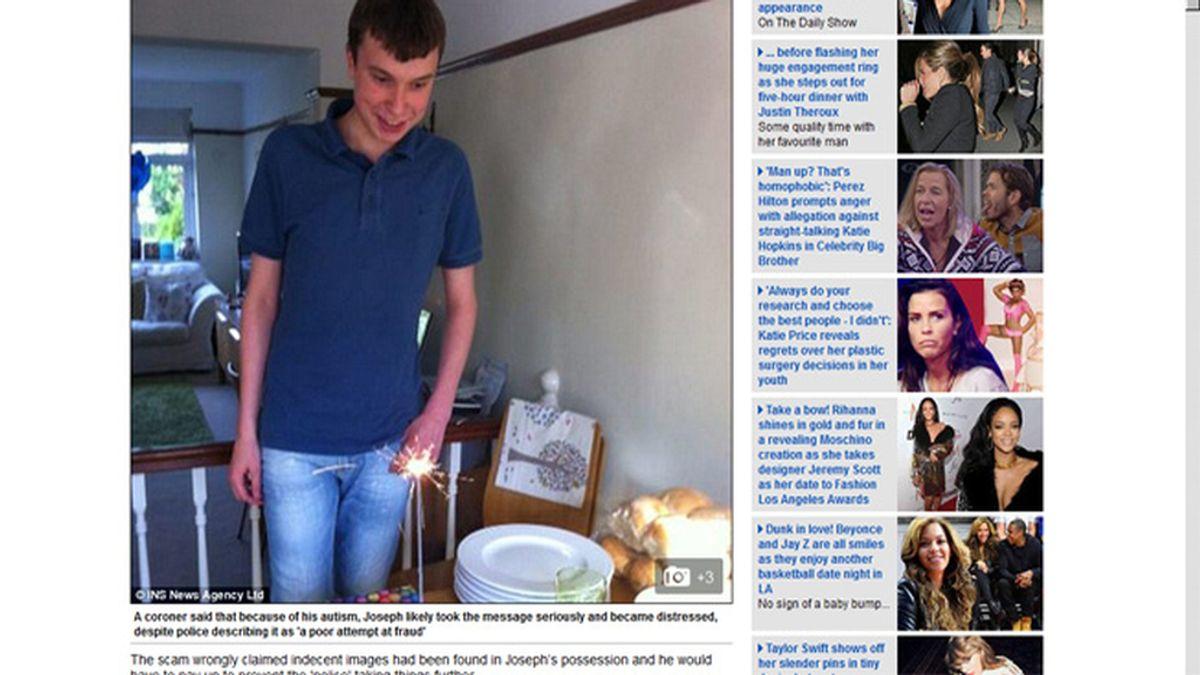 Un niño autista de 17 años se suicida al recibir un falso mail de la policía
