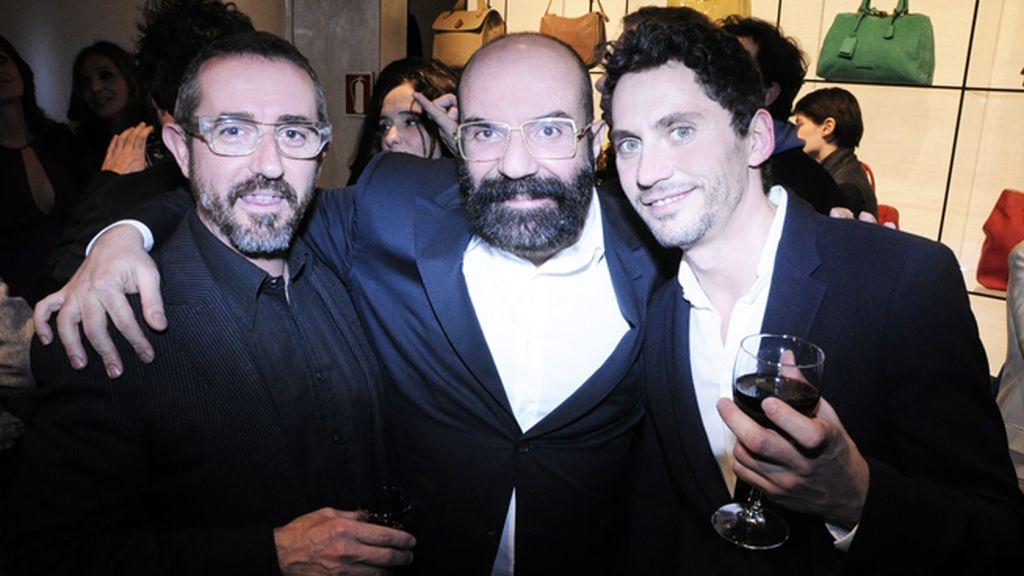 Bernardo Corachán, el diseñador Paco Delgado y Paco León