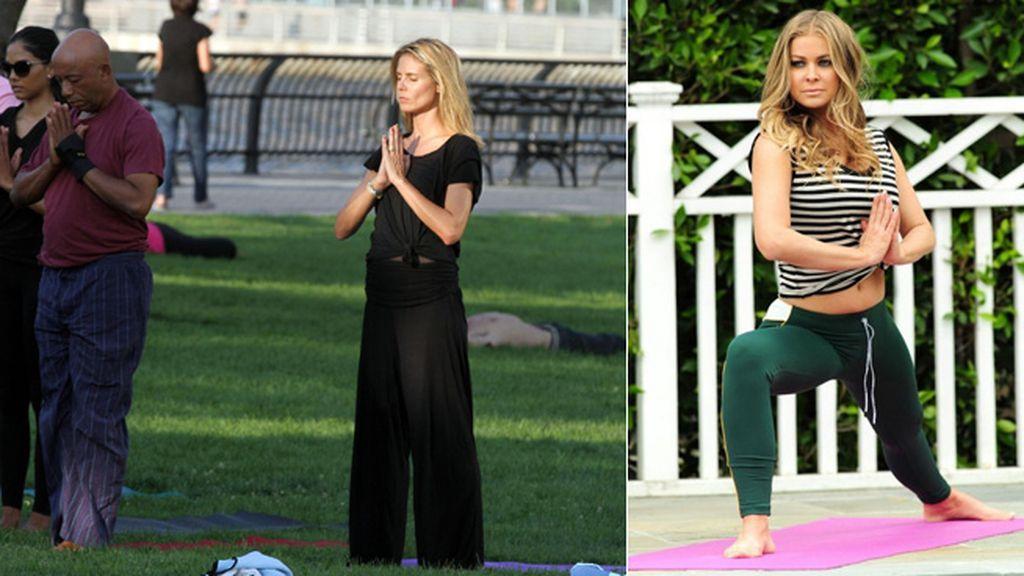 Heidi Klum y Carmen Electra, las yoguistas más 'in'