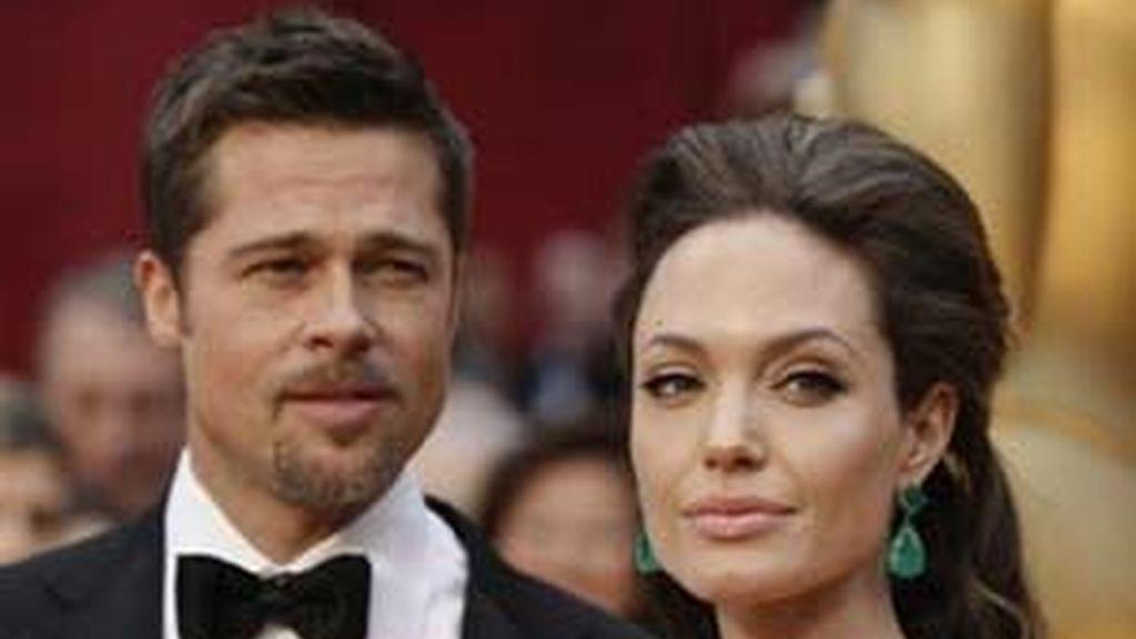 Brad Pitt y Angelina Jolie, en una imagen de archivo. Foto: AP
