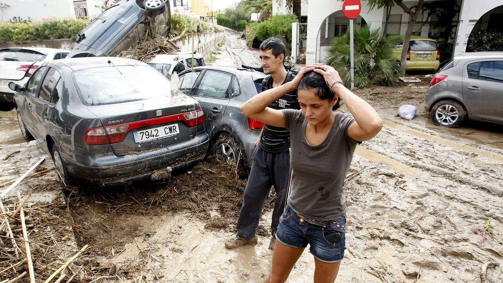 Inundaciones en Vera, Almería. Foto: EFE