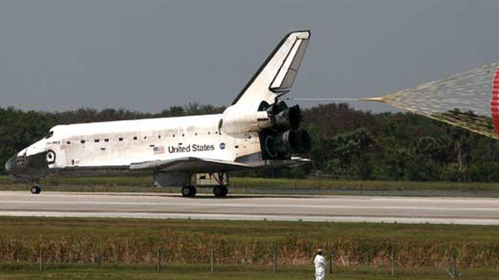 El Discovery aterriza en Florida. Foto: EFE