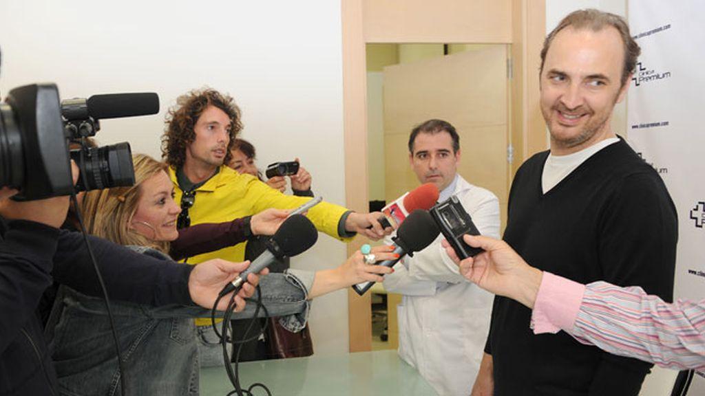 Pedro Larrañaga en la clínica Premium