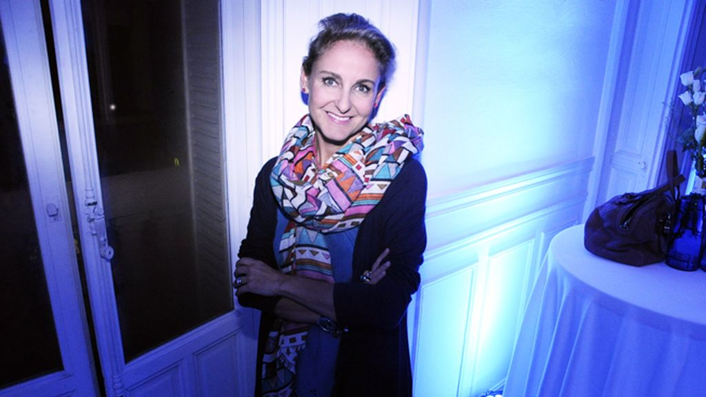 Carla Royo-Villanova fue otra de las invitadas a la Noche Azul