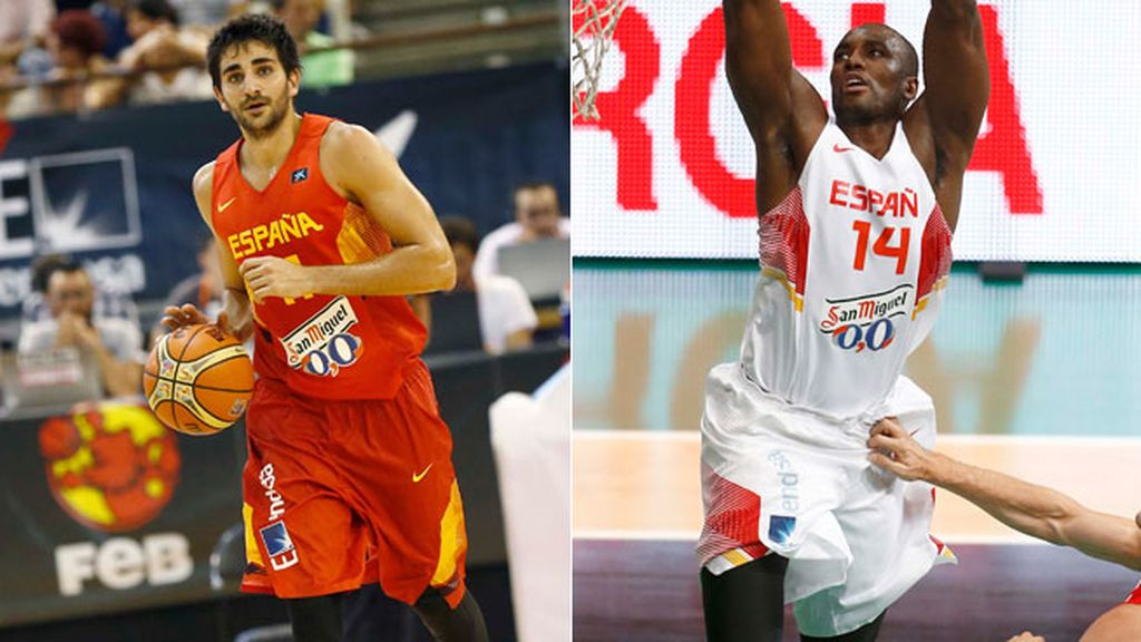 Ricky Rubio y Serge Ibaka
