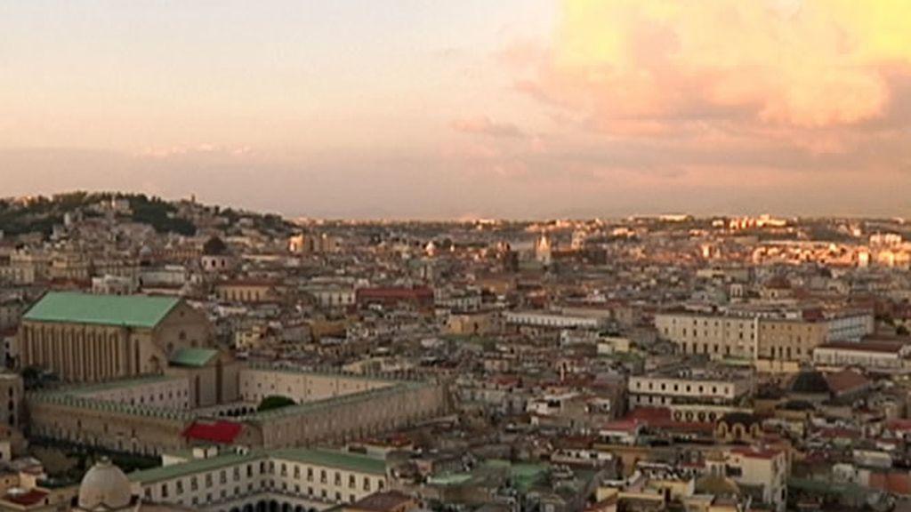 Vista aérea de Nápoles