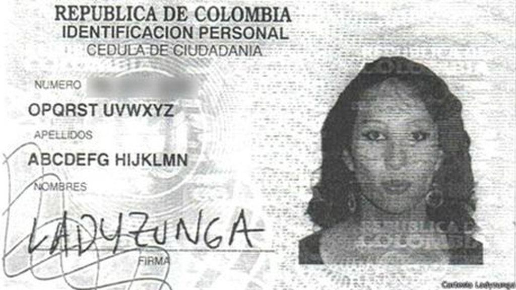 DNI de la colombiana
