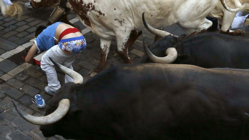 Encierro rápido y limpio de los toros de Victoriano del Río