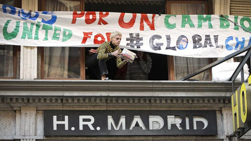 Indignados en el Hotel Madrid