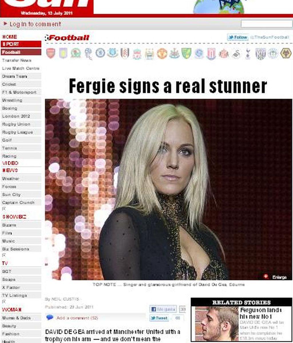 La novia de De Gea conquista los tabloides británicos