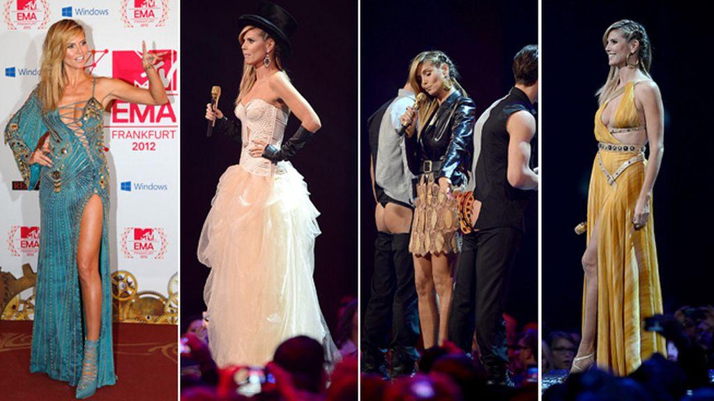 Heidi Klum y sus cuatro cambios de vestuario