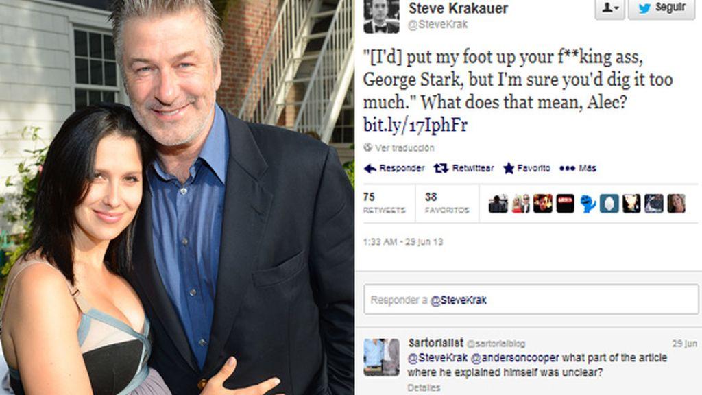 Alec Baldwin se pone violento y homófobo en Twitter