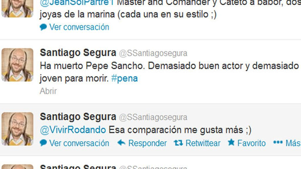 Twitter despide a Pepe Sancho