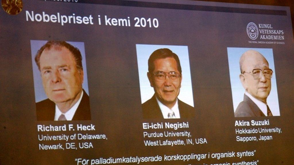 Nobel de Química para dos japoneses y un estadounidense por crear instrumentos clave en al química orgánica.