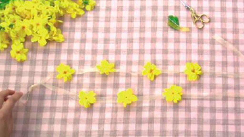 Tricotosas 34: Corona de flores