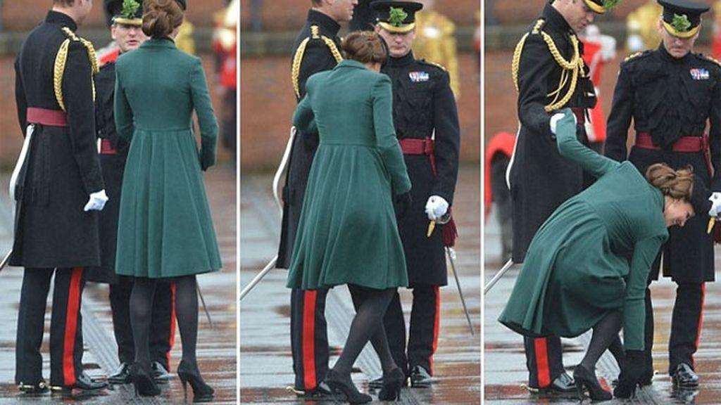 Kate Middleton casi pierde un zapato