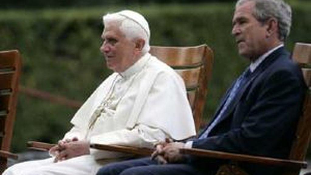 El Papa y Bush, encuentro privado.Vídeo: ATLAS