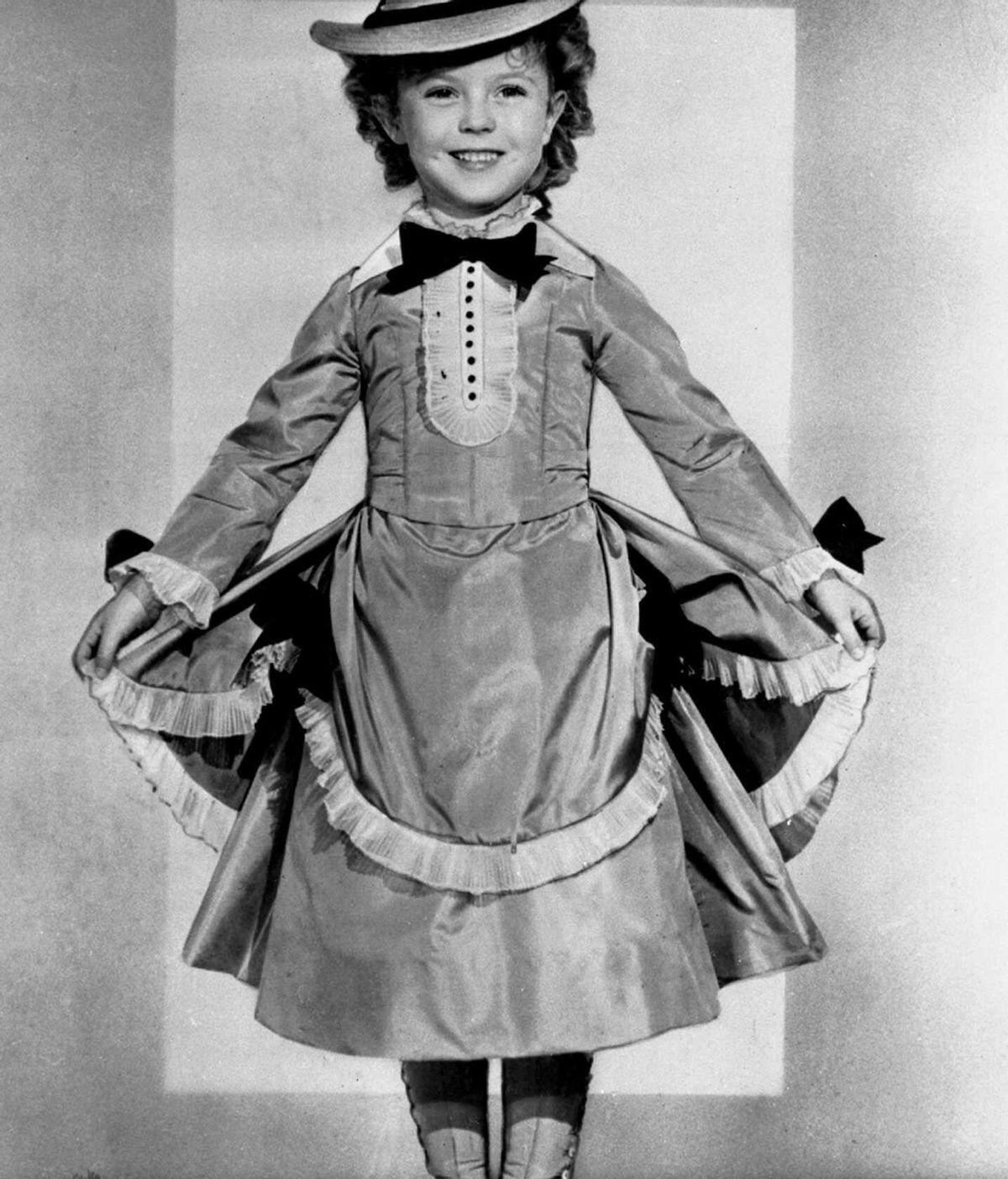 Shirley Temple en un fotograma de la película The Little Colonel