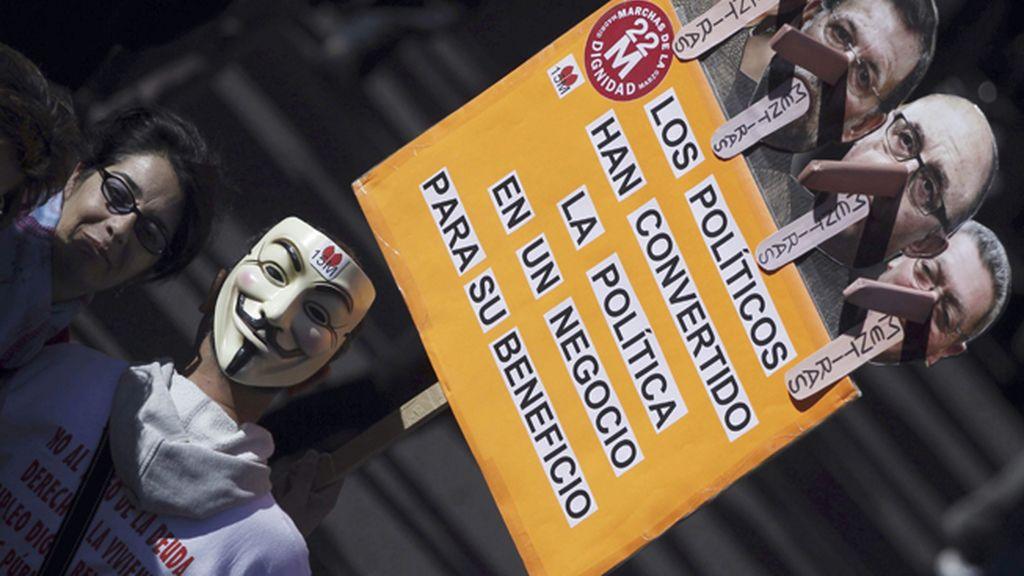 Las mejores imágenes de las 'Marchas por la dignidad'