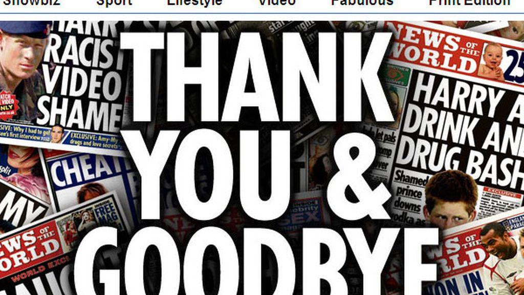 La última edición del tabloide 'News of the world'