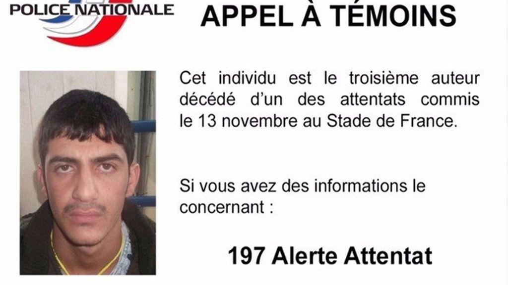 La Policía divulga la foto de uno de los terroristas suicidas del 'Stade de France'