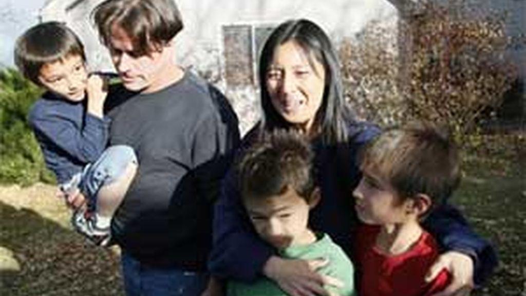 La familia Heene, momentos después del incidente. Foto: REUTERS
