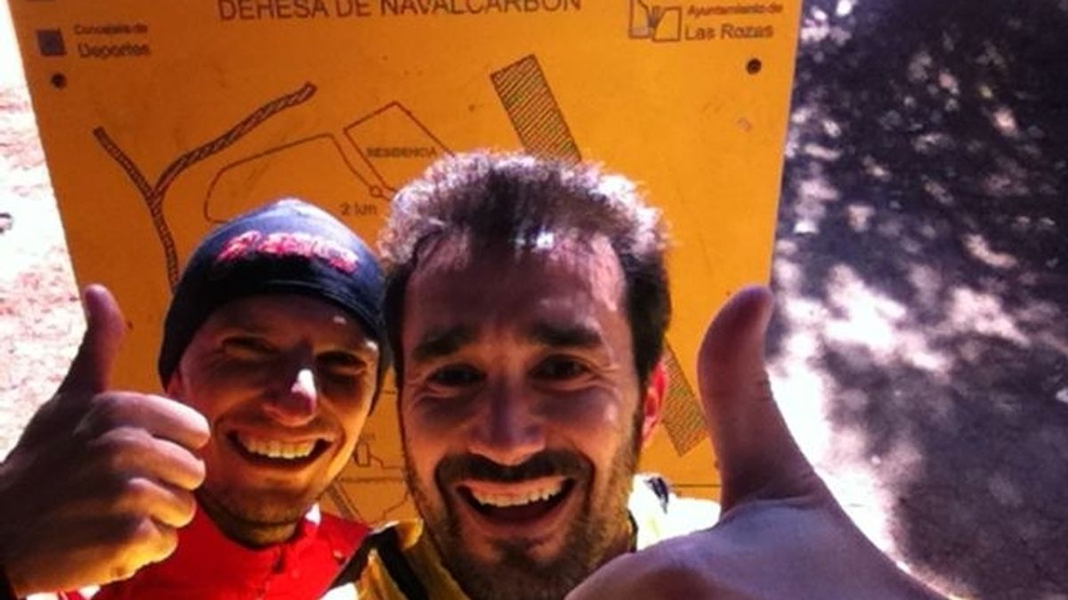 Juanma y Pablo, antes de un entrenamiento