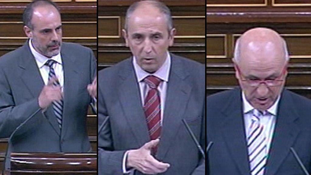 Joan Ridao, Josu Erkoreka y Josep Antoni Duran Lleida