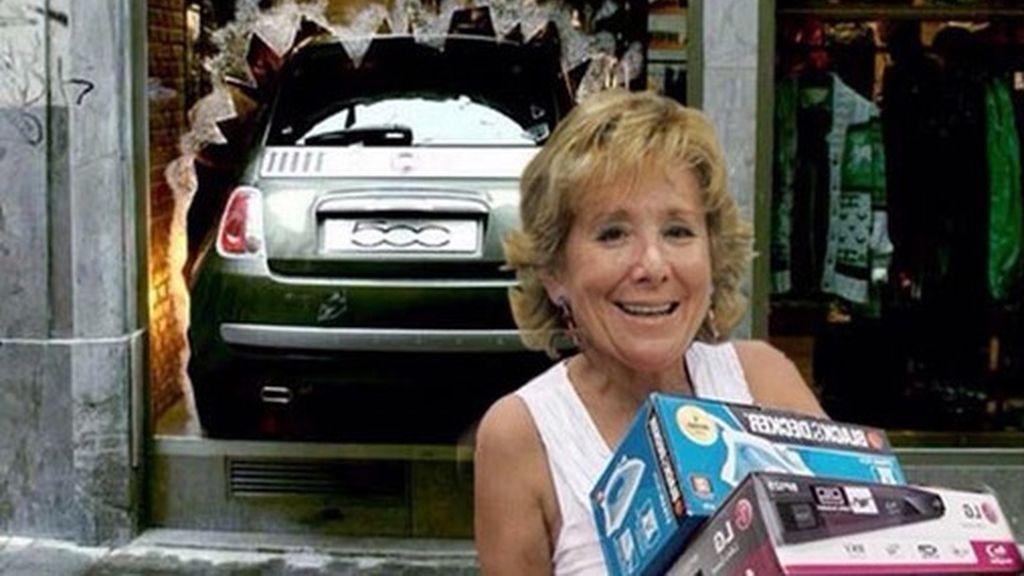 El Photoshop se ceba con el incidente de Esperanza Aguirre