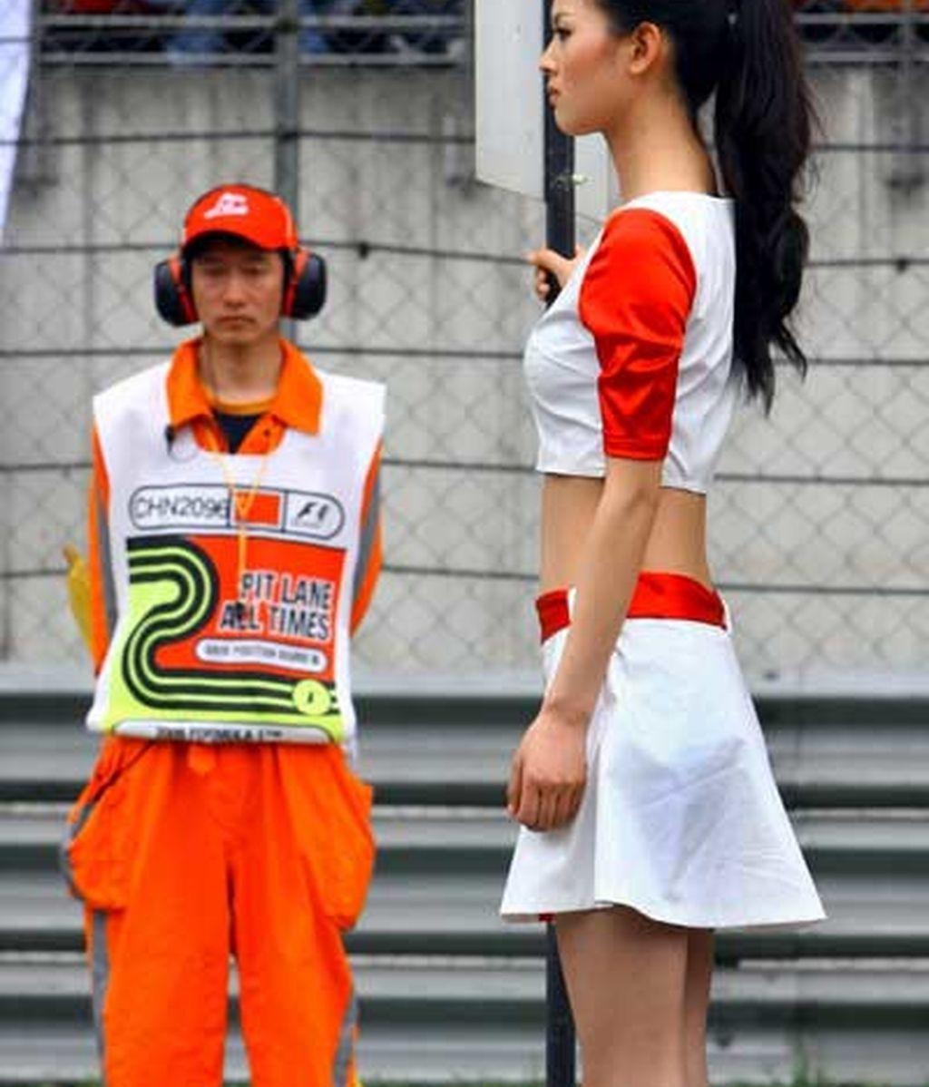 Azafatas en China