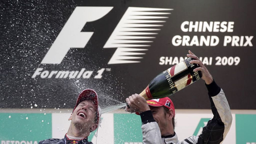 La euforia de Sebastián Vettel