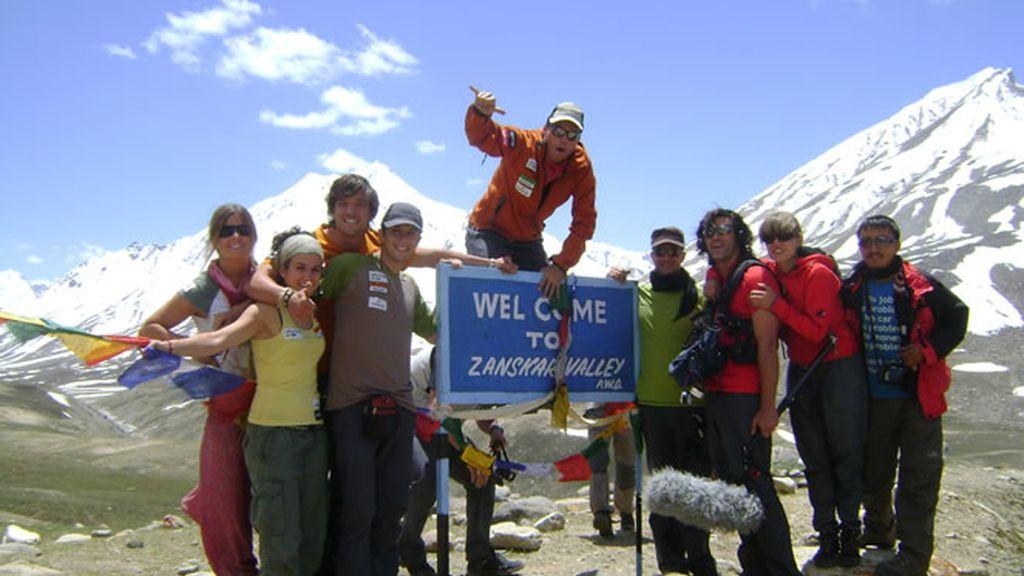 El equipo en el valle del Zanskar