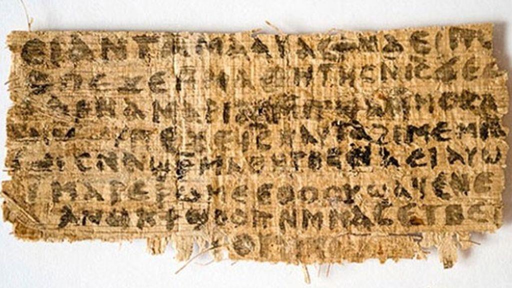 El papiro escrito en copto confirma la tesis de los cristianos primitivos de que Jesús estuvo casado.