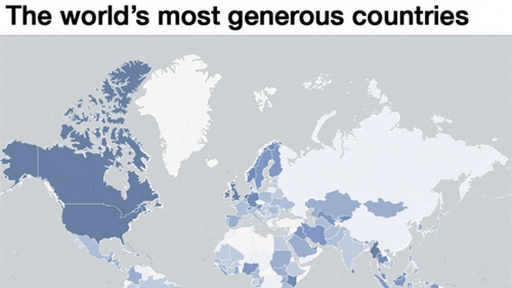 ¿Cuál es el país más generoso?