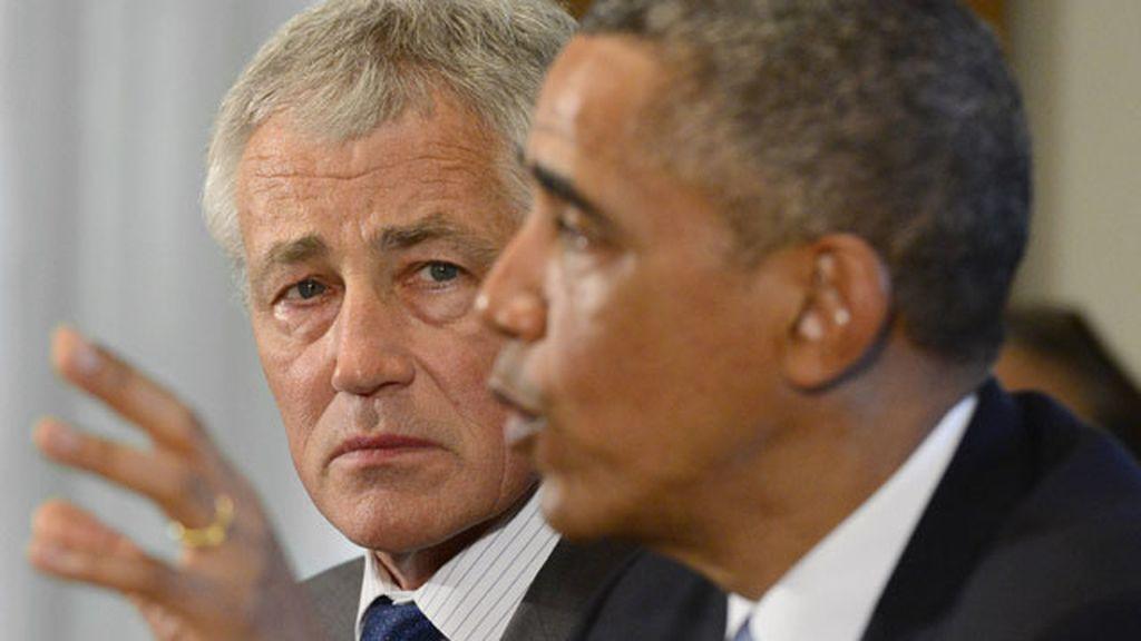 Chuck Hagel y Obama