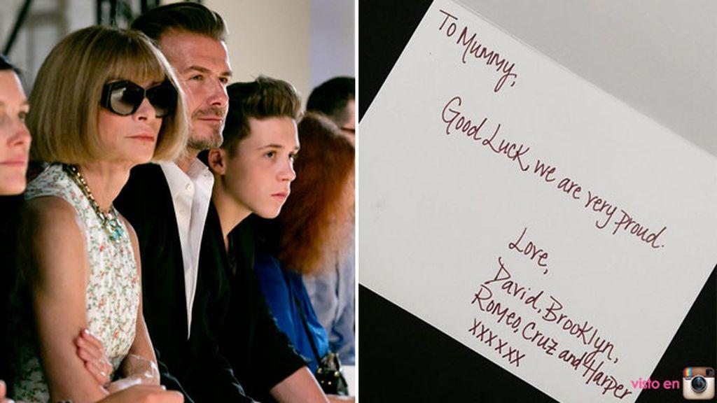 David Beckham y los niños, los mayores fans de Victoria