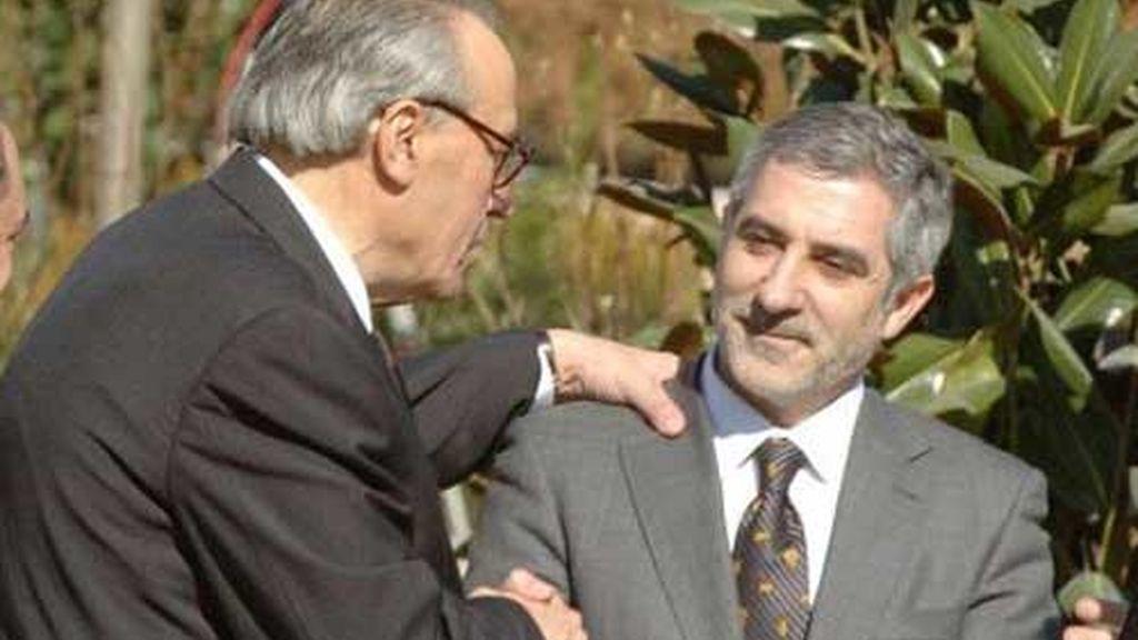 Con Gaspar Llamazares