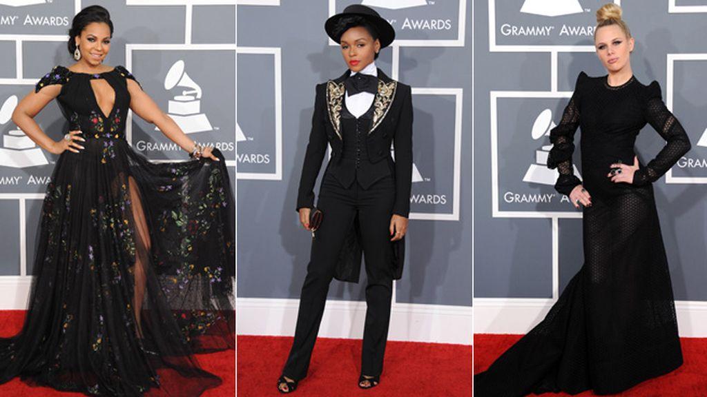El negro fue el color predominante: Ashanti,Janelle Monae y Alana Watson