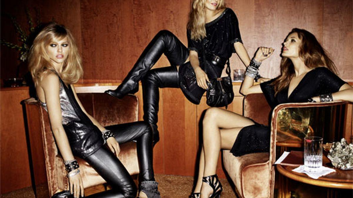 La colección de JImmy Choo combina zapatos, ropa y complementos. Foto: H&M