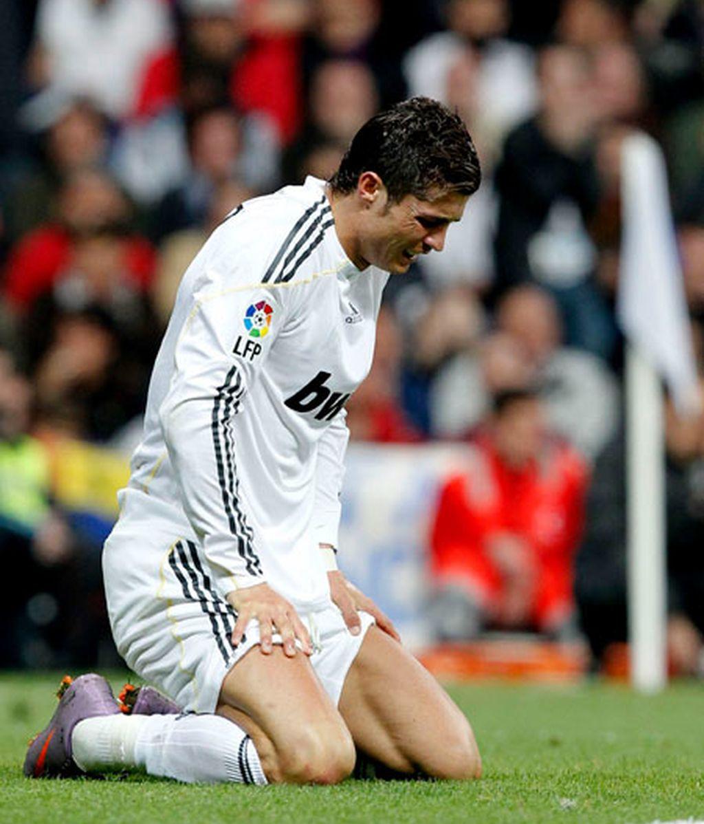 Cristiano Ronaldo, tocado