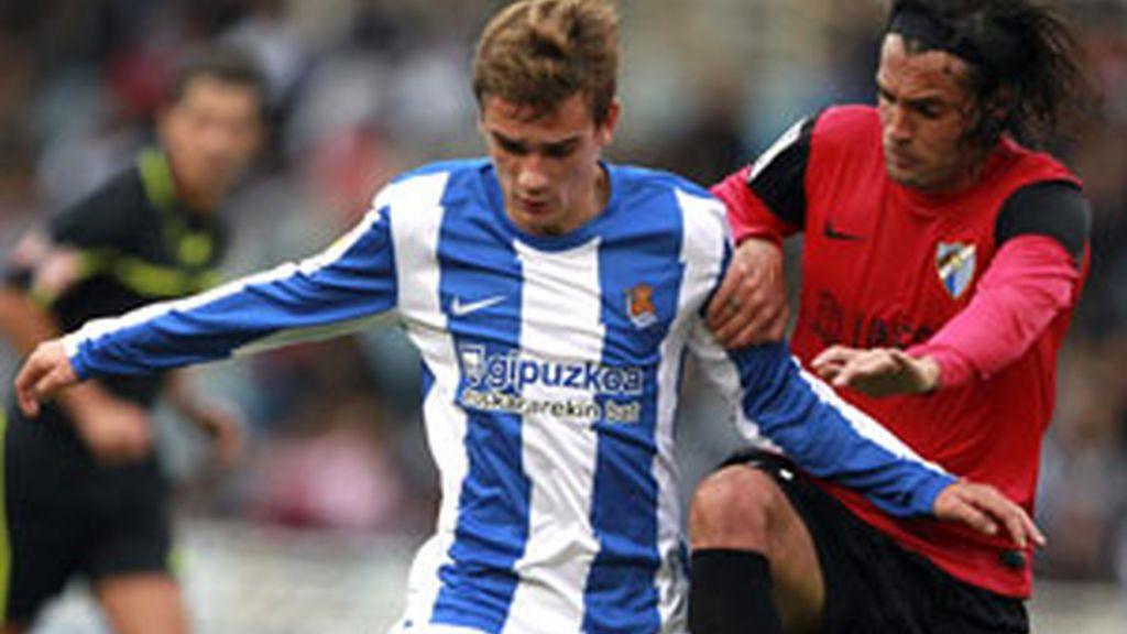Al Málaga se le escapa el partido en el descunto FOTO: EFE