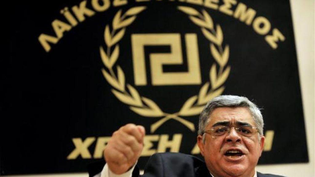 El líder del partido de extrema derecha griego Amanecer Dorado, Nikos Michaloliakos