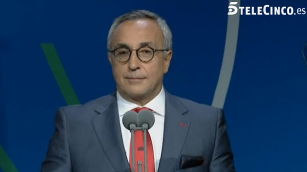 Alejandro Blanco, presidente del Comité Olímpico Español, defendiendo Madrid 2020