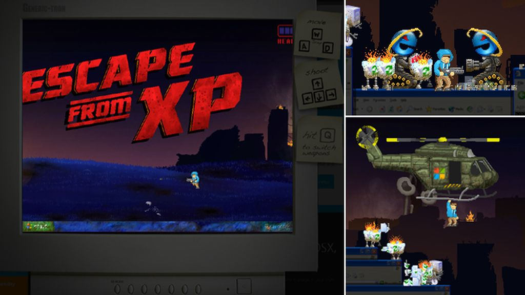 Windows XP resucita como zombi en Escape from XP