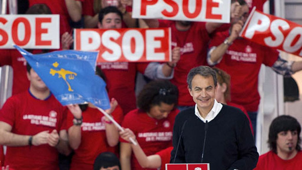 José Luis Rodríguez Zapatero en Gijón