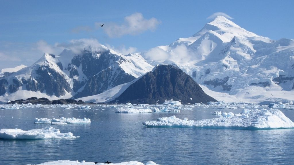 hielo antártico, glaciar, antártida