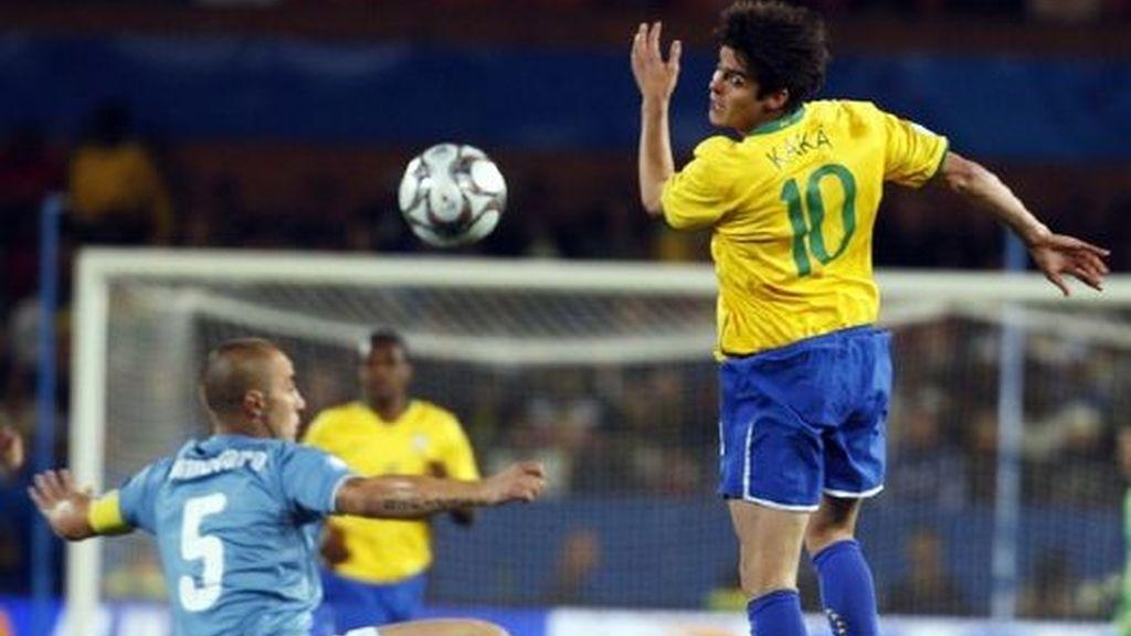Italia-Brasil, en imágenes