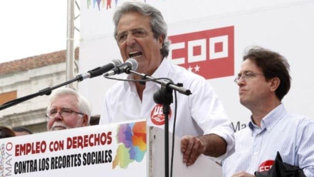 José Ricardo Martínez en una manifestación