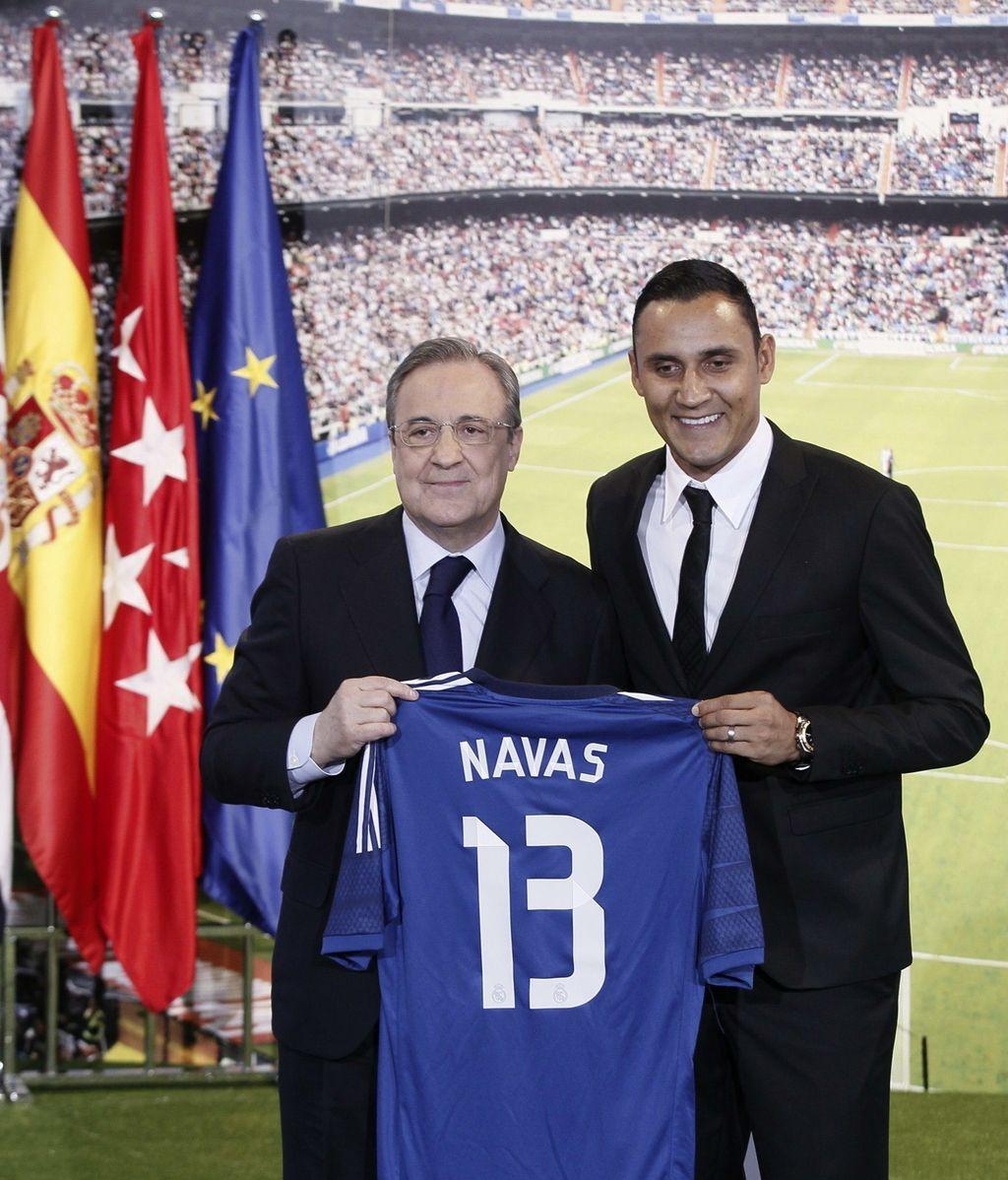 Keylor Navas presentado como nuevo jugador del Real Madrid