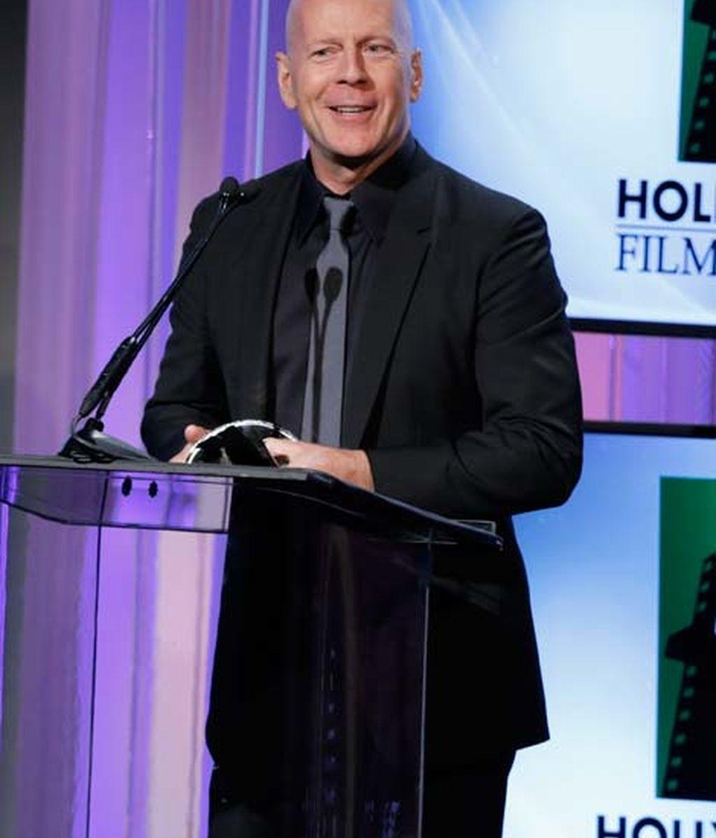 El actor Bruce Willis en la gala